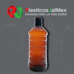 BOTELLA 1000 ML. AMBAR R-28 ANILLADA